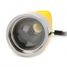 Multi-Functional Hand Cranked 3-Mode 80~100lm LED White Zooming Flashlight - Yellow