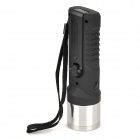 Multi-Functional Hand Cranked 3-Mode 80~100lm LED White Zooming Flashlight - Black + Silver