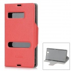 Protective PU Leather Flip Open Case for Sony L36H Xperia Z C6603 / C660x / L36i - Red