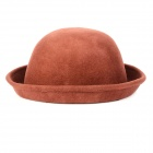 ZEA-MM2 Round Wool Hat / Cap for Women - Coffee