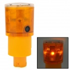 Waterproof Solar Powered 0.3W 590nm 6-LED Yellow Light Traffic Warning / Signal Lamp
