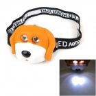 LT-20C Cute Dog Style 37lm 13000mcd 2-Mode 2-LED Neutral White Light Headlamp for Children