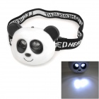 LT-20E Cute Panda Style 37lm 13000mcd 2-Mode 2-LED Neutral White Light Headlamp for Children