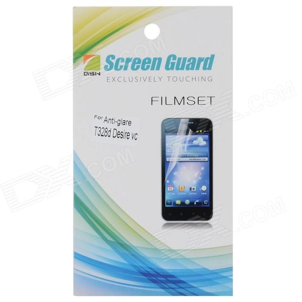 Protective Matte Frosted PET Screen Protector Film Guard for HTC T328d - Transparent