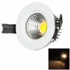 8W 480lm 3100K White / Warm White Integrated LED COB Down Light (AC 100~240V)