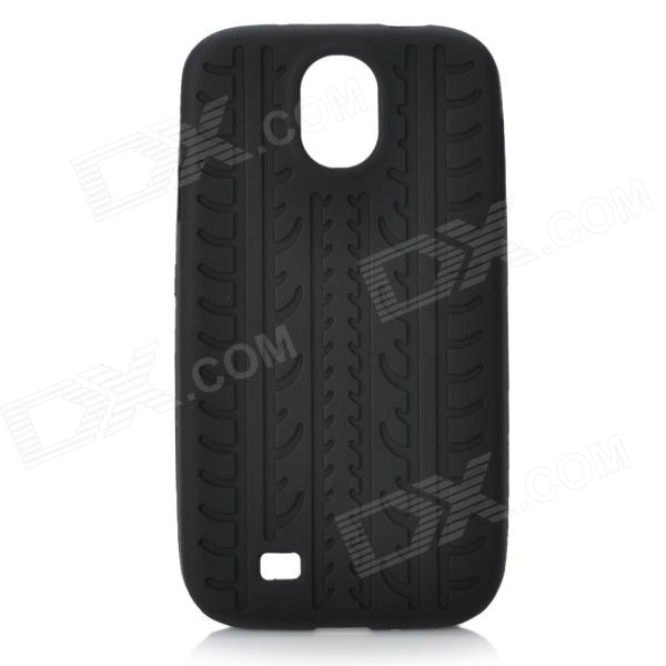Unique Tire Pattern Protective Silicone Back Case for Samsung Galaxy S4 i9500 - Black protective cute spots pattern back case for samsung galaxy s4 i9500 multicolored