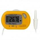 "Mini 1.2"" LCD Digital Thermometer w/ Sensor Probe - Yellow (1 x LR44)"