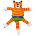 Cute Strip Pattern Cat Style Canvas + Fiber Cotton Squeaker Pet Toy for Dog