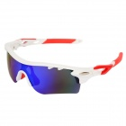 OREKA WG565 Outdoor Sport UV400 Protection Sunglasses Goggles - White + Blue Revo