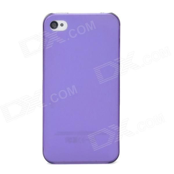 Protective Plastic Frosted Back Case for Iphone 4 / 4S - Translucent Purple