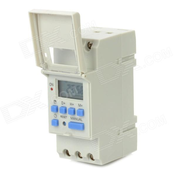 "KI206 0.9"" LCD 220V Multifunction Programmable Timer Control Switch - Grey"