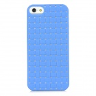 Woven Style Protective TPU Back Case for Iphone 5 - Blue