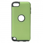 Protective Aluminum Alloy + Silicone Back Case for Ipod Touch 5 - Green