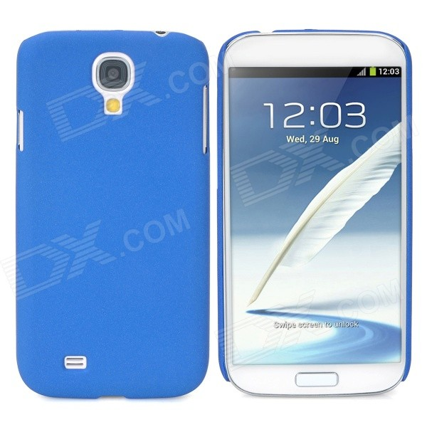 Protective Matte Plastic Back Case for Samsung Galaxy S4 i9500 - Blue protective hollow out matte pc back case for samsung galaxy s4 zoom sm c1010 blue