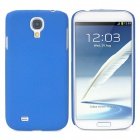 Protective Matte Plastic Back Case for Samsung Galaxy S4 i9500 - Blue
