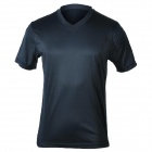 MOUNTAINPEAK Outdoor Quick-dry Bamboo Fiber T-Shirt for Men - Deep Blue (Size XL)
