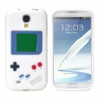 Retro Gameboy Style Protective Silicone Back Case for Samsung Galaxy S4 i9500 - White