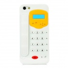 Telephone Style Protective Silicone Back Case for Iphone 5 - White