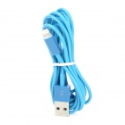 2P8 USB 2.0 Male to 8-Pin Lightning Charging / Data Round Cable - Blue (2m)