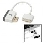 UNITEK Y-2014 USB 2.0 AM to iPhone 30-Pin Charging Cable w/ USB AF Port - Black + White