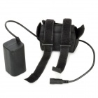 8.4V 3600mAh Waterproof Rechargeable Li-ion 18650 Battery Pack - Black