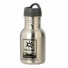 Kailas Outdoor Stainless Steel Water Bottle - Black + Silver (350ml)