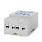 "1.8"" LCD 220V Micro Computer Timer Control Switch - White + Blue (1 x AA)"