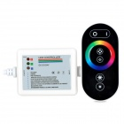 216W Wireless Touching RBG LED Strip Controller w/ Receiver - Black + White (DC 12~24V)