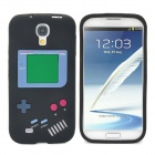 Retro Gameboy Style Protective Silicone Back Case for Samsung Galaxy S4 i9500 - Black