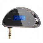 "0.85"" LCD Car Cigarette Powered FM Transmitter for Samsung / HTC - Black"