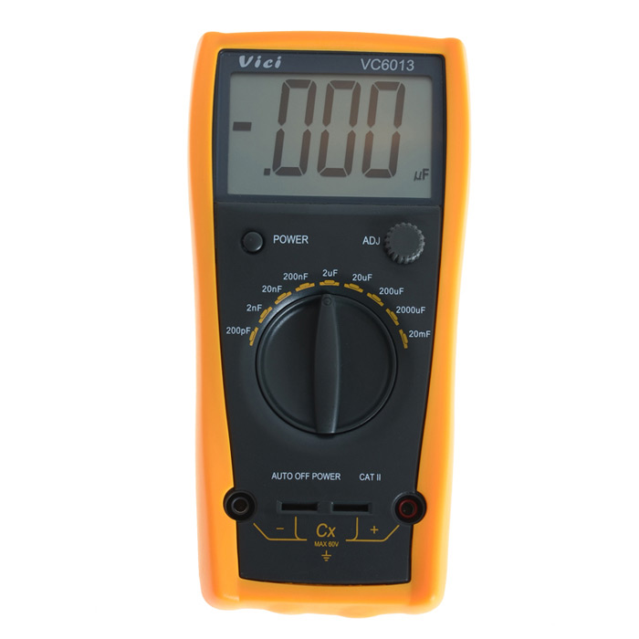 VICHY VC6013 Digital 3.0 LCD Capacitance Multimeter - Grey + Orange (1 x 6F22) trybeyond брюки для мальчика 999 92198 00 40n серый trybeyond