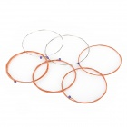 ZIKO Replacement Steel + Copper Wire Folk Guitar Strings - Silver + Red Copper (6 PCS)