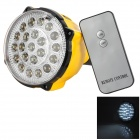 E27 Multifunction 4W 320lm 6500K 22-LED Cool White Light Bulb - Yellow + Black + Silver