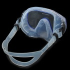 Diving Snorkeling Scuba Snorkel + Goggles Mask Set - Black + Blue + White