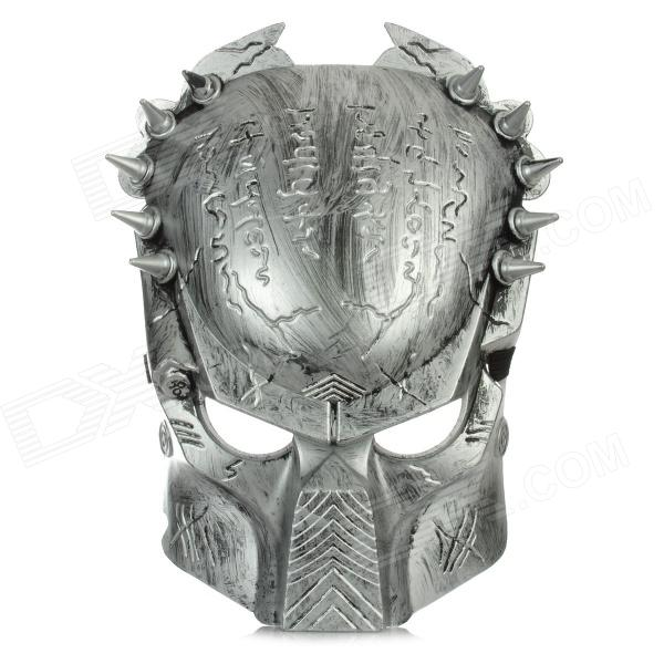 Predator Style Face Mask - Silver cool face mask with elastic strap white