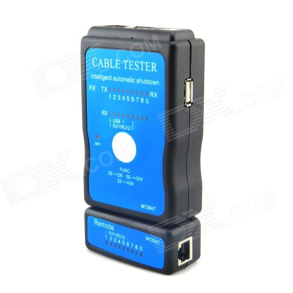 M726AT LAN RJ45 RJ11 USB Cable Tester - Black + Blue (1 x 9V) grainstack haystack at the sunset near givernyрепродукции моне 45 x 30см