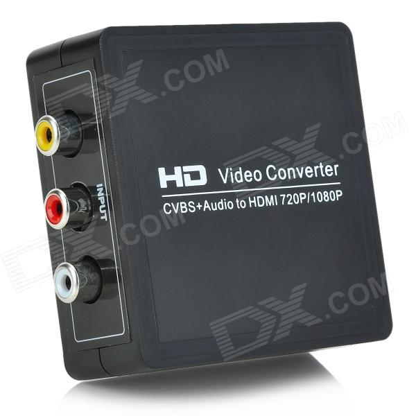 AV to HDMI 1080P High Definition Video Audio Converter - Black rs232 to rs485 converter with optical isolation passive interface protection