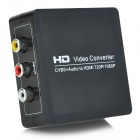 AV to HDMI 1080P High Definition Video Audio Converter - Black