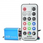 48W 3-CH 17-Key IR Remote LED Controller Set for RGB Light Strip - Blue (DC 12V)