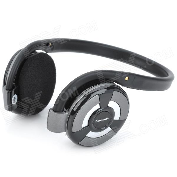 B-360 Bluetooth v2.1 + EDR Stereo Headphones w/ Microphone / FM / TF - Black + Grey + Silver