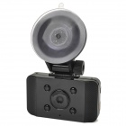 "AT008 2.0"" LCD 5.0 MP Wide Angle Car DVR Camcorder w/ 6-LED / GPS Logger / G-Sensor / HDMI - Black"