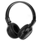 Folding Sport MP3 Player Headphones w/ FM / TF Slot - Black