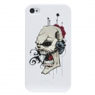 Colorfilm Protective Skull Pattern Plastic Back Case for Iphone 4 / 4S - White