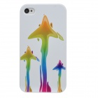 Colorfilm Protective Fish Pattern Plastic Back Case for Iphone 4 / 4S - White
