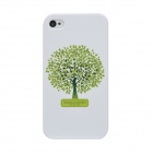 Colorfilm Protective Tree Pattern Plastic Back Case for Iphone 4 / 4S - Green + White