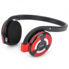 B-360 Bluetooth v2.1 + EDR Stereo Headphones w/ Microphone / FM / TF - Red + Black + Silver