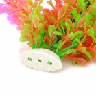 Aquarium PVC Simulation False Water Flower - Green + Pink