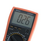 "VICHY VC9808+ 3"" LCD Digital Temperature Inductance Frequency Multimeter - Grey + Orange (1 x 6F22)"