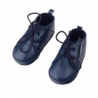 Fashion PU Leather Shoes for 6~9 Months Male Baby - Black (Pair)