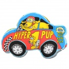 Car Style Canvas + Fiber Cotton Squeaker Pet Dog Toy - Multicolored